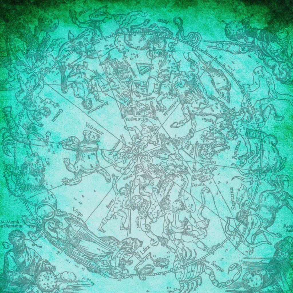 干支の動物の絵が描かれた青白い紙
