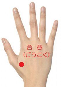 手のツボ(合谷)